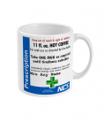 National Coffee Service NHS Parody Prescription Coffee Mug Personalised Gift